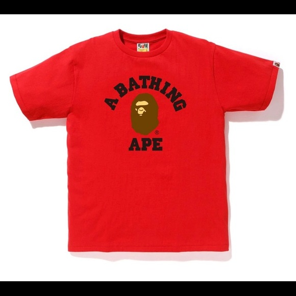219cb5ca0 Bape Shirts | College Tee Red Never Worn | Poshmark